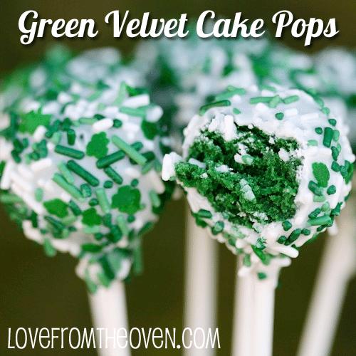 Green Velvet Cake Pops