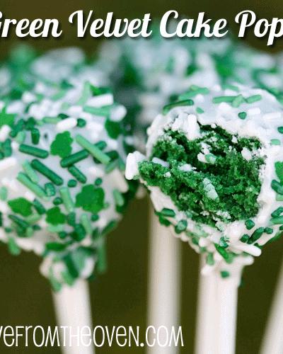 Green Velvet Cake Pops – More St. Patty's Day Baking Ideas