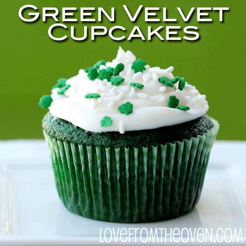 Green Velvet Cake Cupcakes