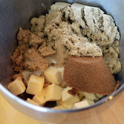 cookie ingredients in a bowl