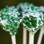 cake pops made from green velvet cake