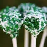 cake pops made from green velvet cake