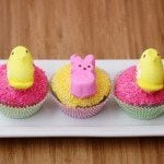 Pretty Peeps Cupcakes for Peeps Week