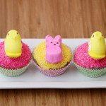 Pretty Peeps Cupcakes for Peeps Week