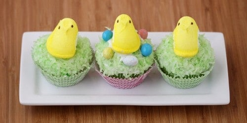 how to make peeps cupcakes