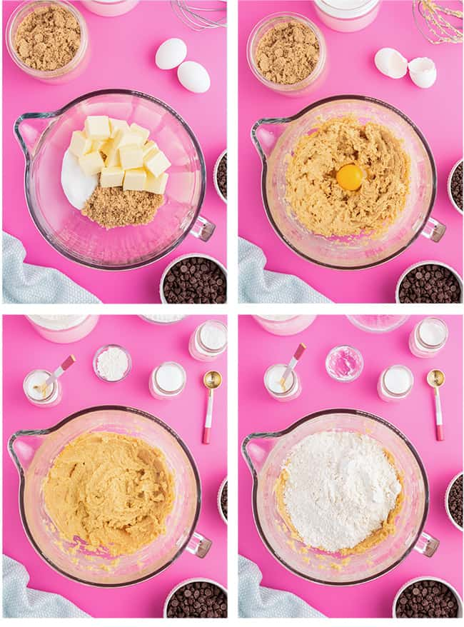 step by step photos showing how to make cookies