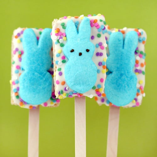 Rice Krispie Peep Pops