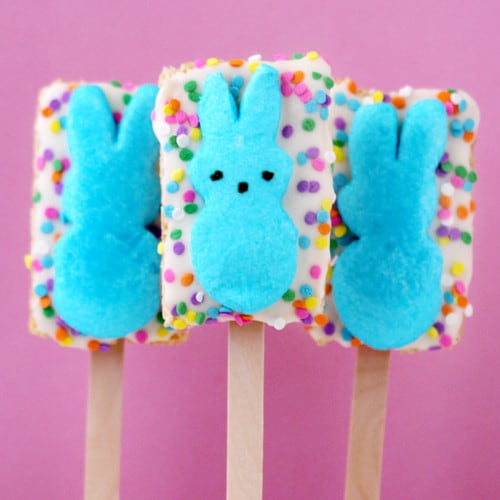 Peeps Rice Krispies Treats For Peeps Week - Love From The Oven