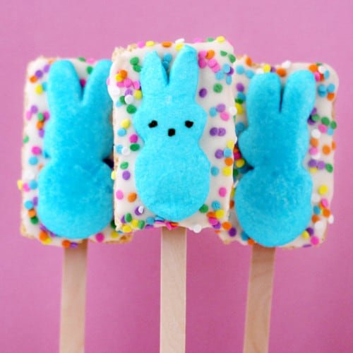 peeps pops rice krispy treats