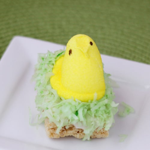Peeps Rice Krispies Treats For Peeps Week - Love From The Oven