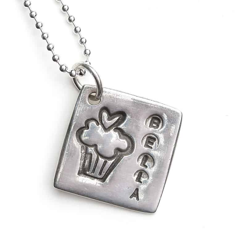 Sentimental Silver Cupacke Cutie Necklace
