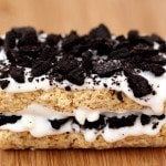 cookies and cream oreos stuffed rice krispy treats jpg