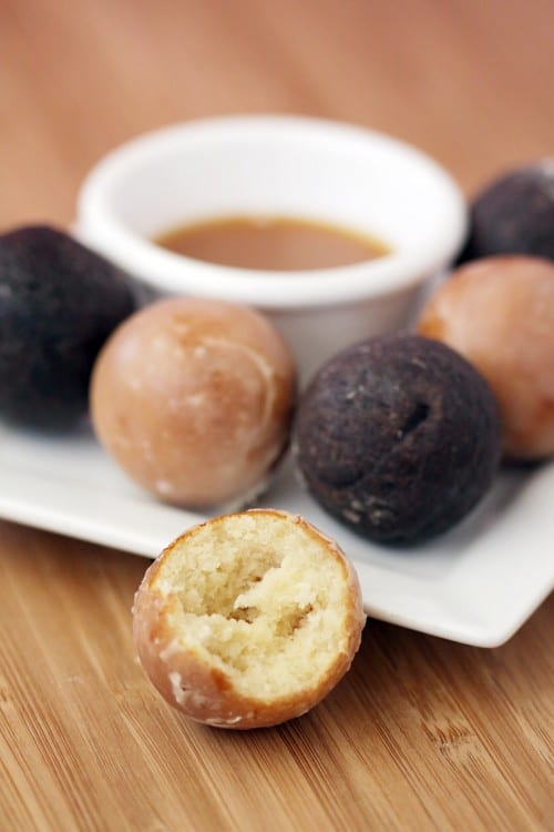donut holes and dipping sauce
