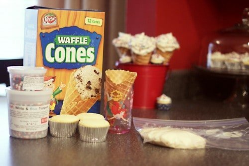how do you make cupcake ice cream cones