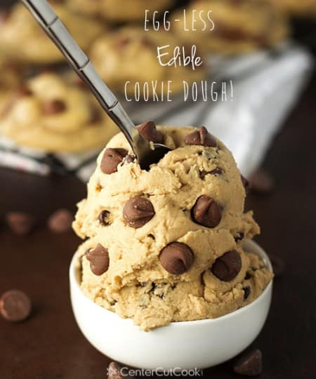Eggless edible cookie dough