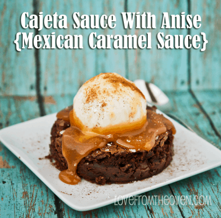 Cajeta Sauce Topped Brownies