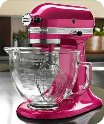 Enter To Win A Raspberry Ice Kitchenaid Mixer From