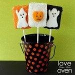 LFTO crispy treat peeps pops for halloween