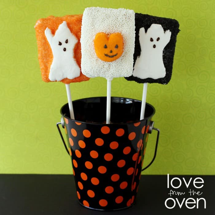 LFTO crispy treat peeps pops for halloween
