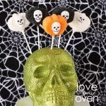 Marshmallow Pumpkin Pops For Halloween… With Sugary Skulls