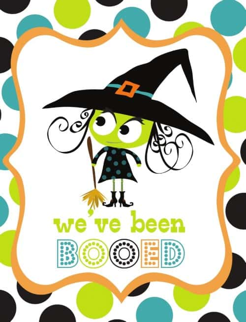 image relating to You've Been Booed Free Printable identified as Youve Been Booed! Snacks for Boo-ing Your Buddies And Back links