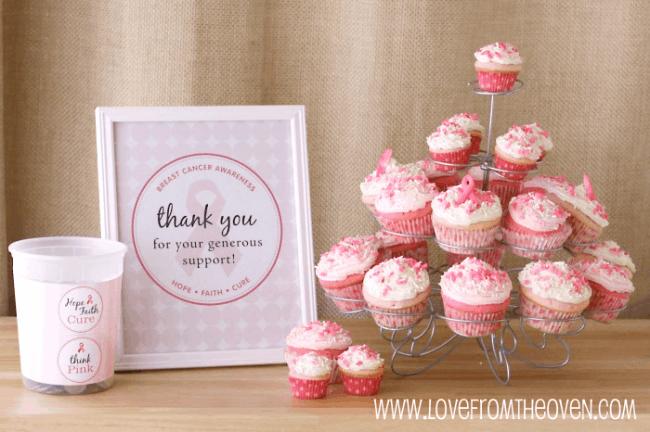 Breast Cancer Fundraiser Ideas Cupcakes