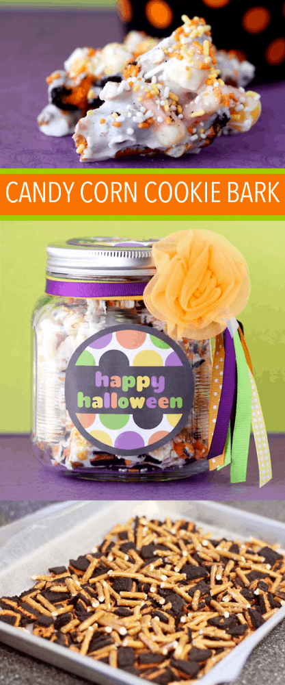 Easy Candy Corn Cookie Bark