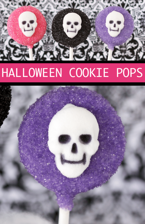 Easy No Bake Halloween Cookie Pops