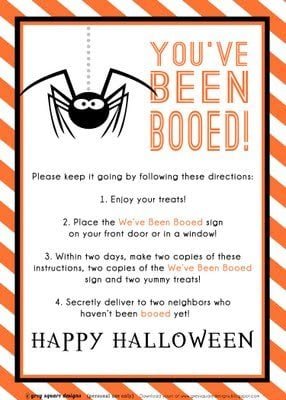photograph about You've Been Booed Printable known as Youve Been Booed! Snacks for Boo-ing Your Close friends And Inbound links