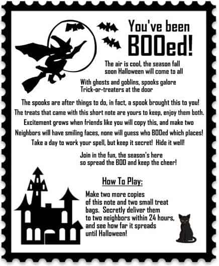 image about You've Been Booed Free Printable named Youve Been Booed! Snacks for Boo-ing Your Close friends And Inbound links