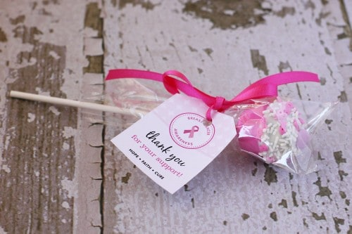 breast cancer fundraiser cake pops