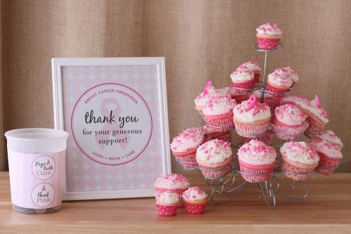 breast cancer fundraiser cupcakes