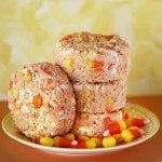 candy corn white chocolate crispy treats