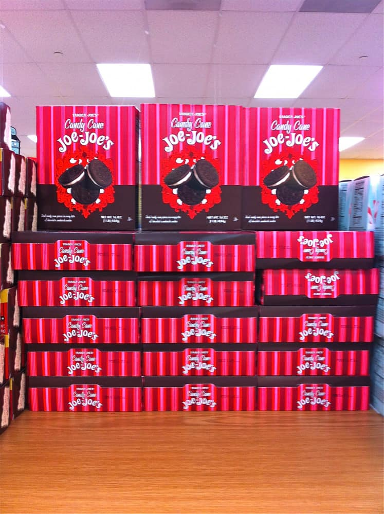 Candy Cane Joe Joes at Trader Joes