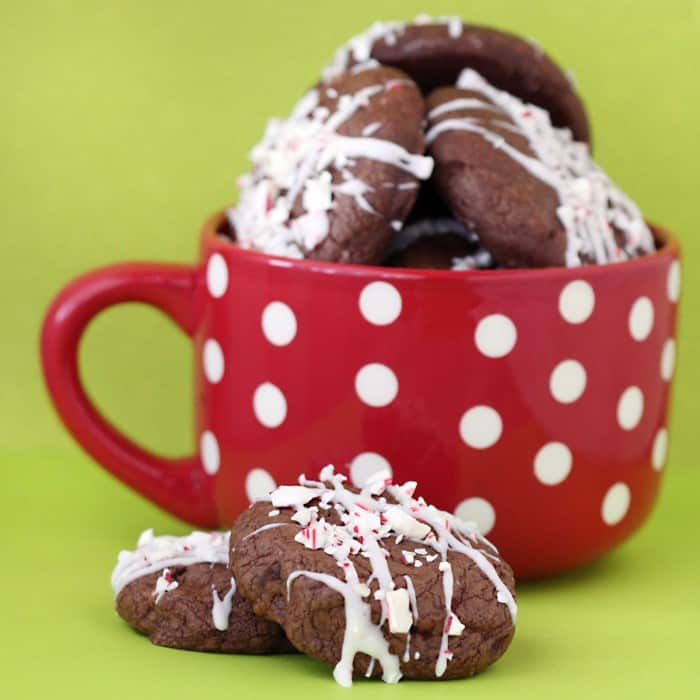 Double Chocolate Candy Cane Cookies Love From The Oven