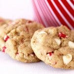 White Chocolate Peppermint Crunch Oatmeal Cookies Made With Melt.