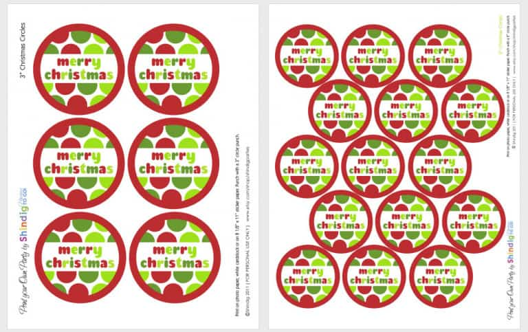 shindig parties to go free christmas tag printable - Love From The ...