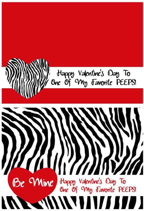 Printable Zebra Valentine @michellepaigeblogs.com