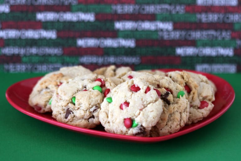 chocolate chip christmas cookies - Love From The Oven