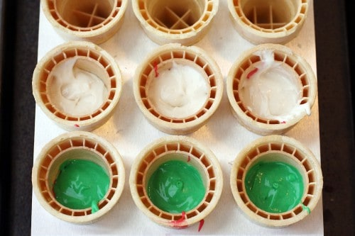 christmas cupcake cones