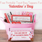 Quick And Easy Valentine Day Treat<BR> Bags With Free Printable Bag Toppers