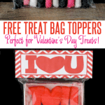 Free Valentine's Day Printable Treat Bag Toppers