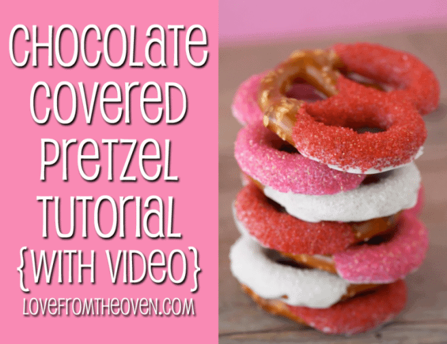 How To Make Chocolate Covered Pretzels With Video Tutorial by Love From the Oven