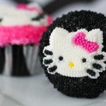 Wild Thing – Hot Pink Zebra Hello Kitty Cupcakes