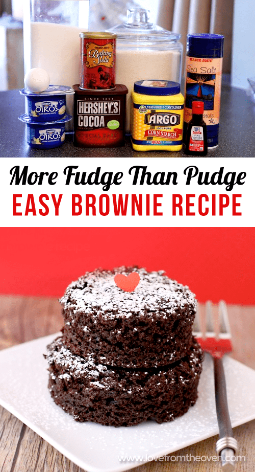 Enjoy more fudge than pudge with this lightened up brownie recipe. Easy and delicious!