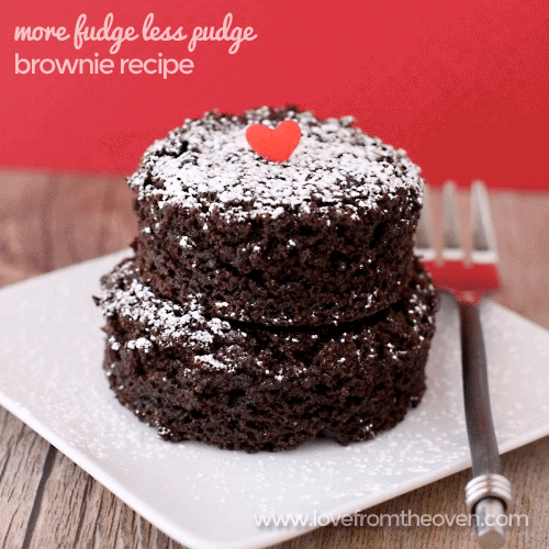 More Fudge Less Pudge Brownie Recipe