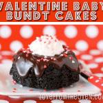 Valentine Baby Bundt Cakes