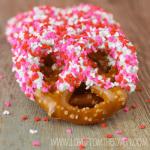 Salty Sweet Valentine Pretzels