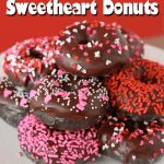 Valentine's Day Baked Chocolate Donuts