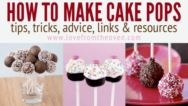 How To Make Cake Pops at Love From The Oven